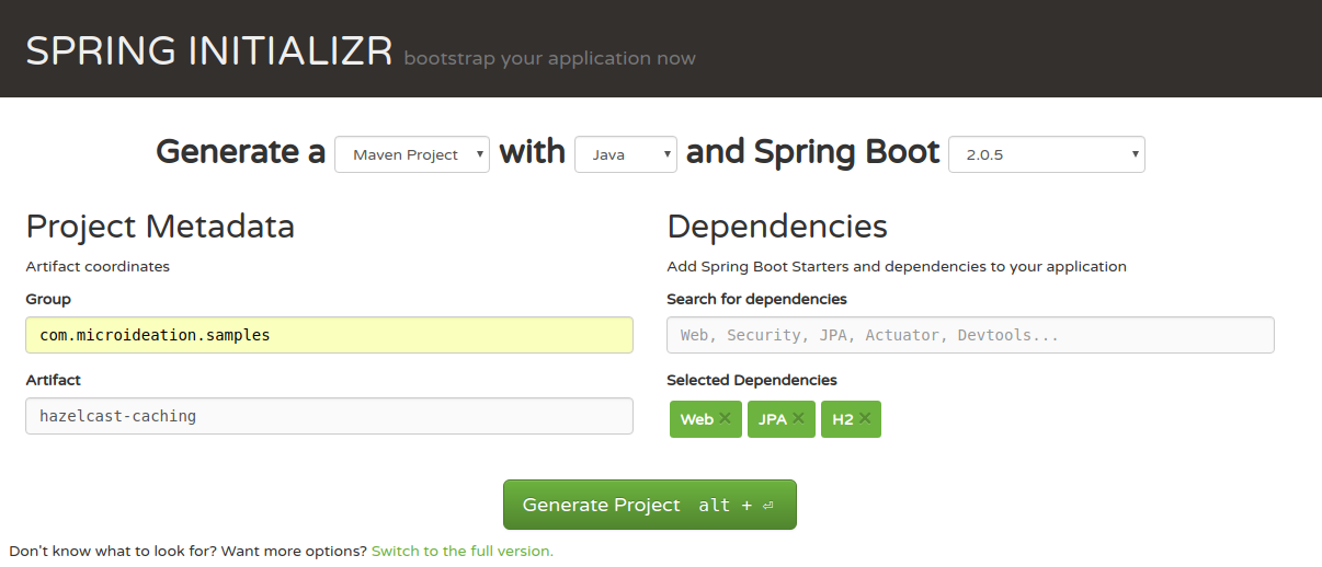 Spring boot application using Hazelcast cache – MICROIDEATION